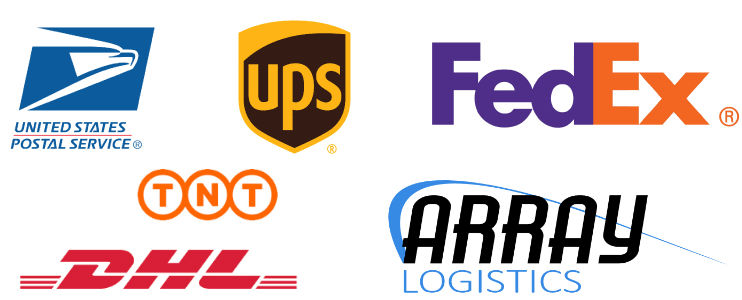 Shipping worldwide with all major carriers